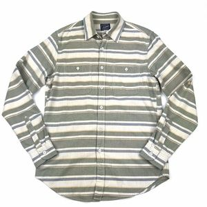 J. Crew Deck Stripe Cotton Shirt S